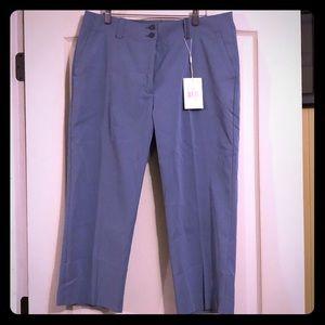 New Nike Golf Womens Pants cropped blue Dri-fit 12